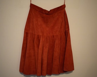 Classic leather Carnero skirt