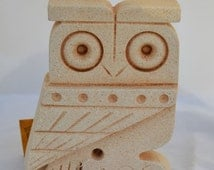 For Sale Owl Of Athens Small Statue - Ancient Greek Cycladic Art- Goddess Athena