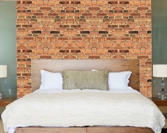 Brick Wallpaper Self Adhesive Decals Removable Brick Wall Mural, Brick Wall Decal, Brick Applique for Walls, Brick Wallpaper,Bricks, c13