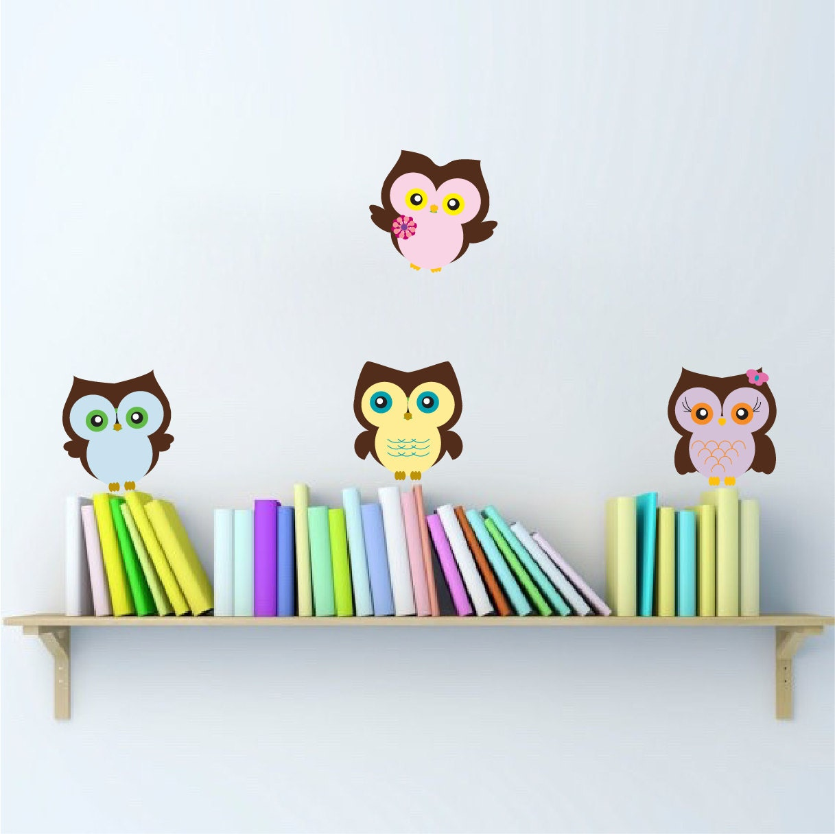 nursery owl wall decals peel and stick owls owls wall sticker. Black Bedroom Furniture Sets. Home Design Ideas