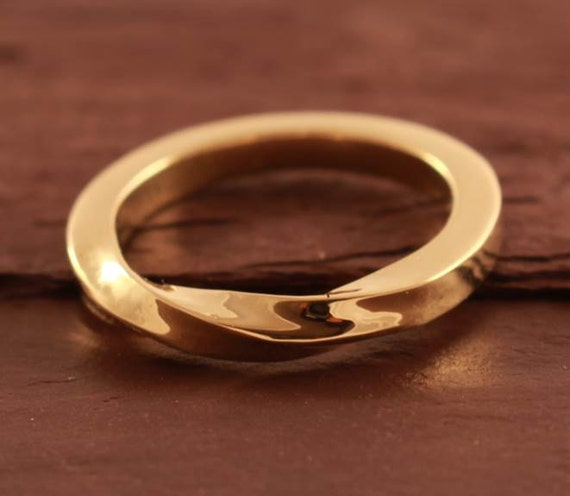 Welsh Wedding Ring: Welsh Gold And 18ct EcoGold Twist Wedding Ring