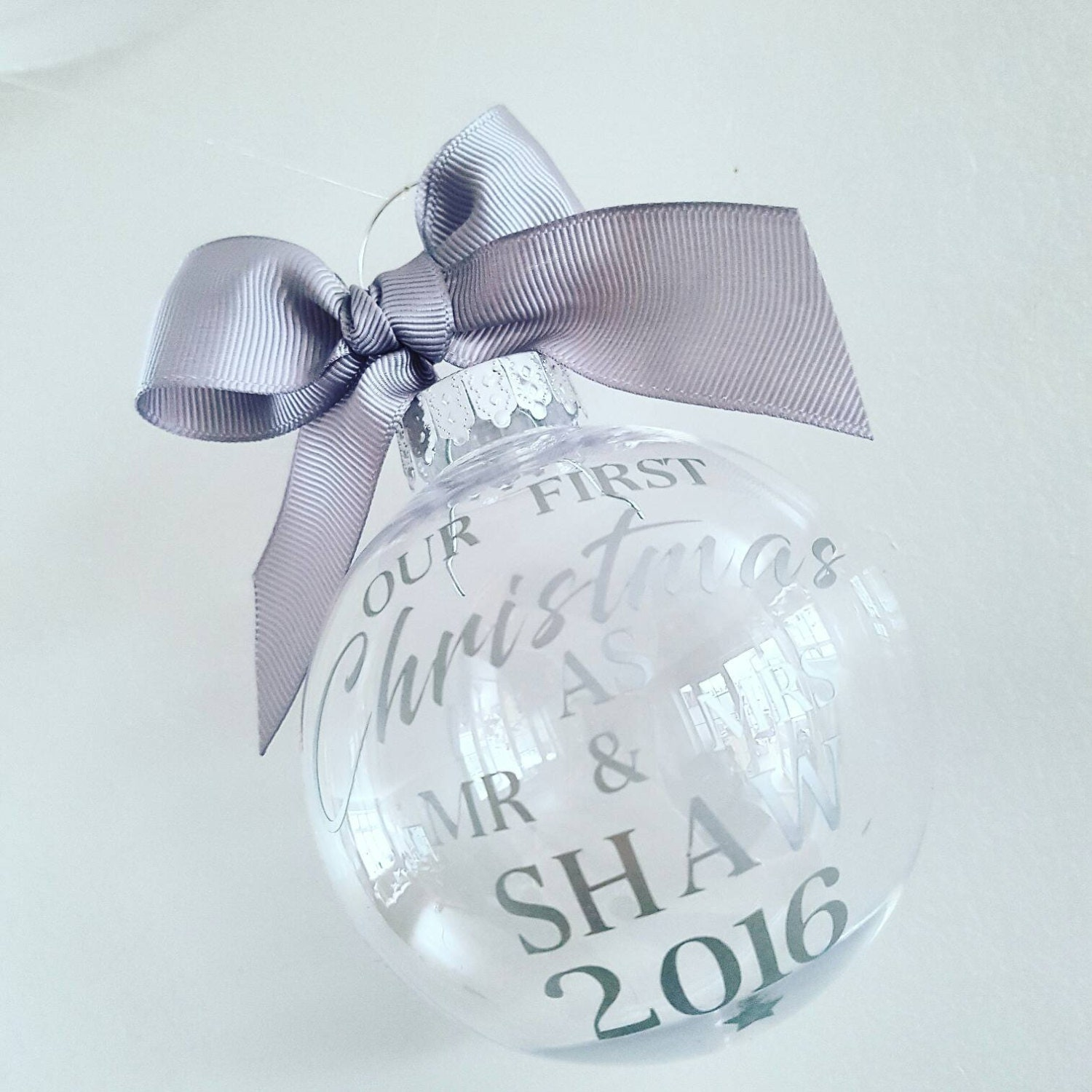 First christmas as mr and mrs decoration - First Christmas Bauble As Mr Mrs Wedding Keepsake Christmas Bauble Personalised
