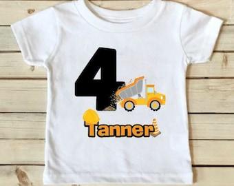Construction Birthday Shirt - Construction Shirt - Birthday Shirt - Boys Birthday Shirt - Personalized Shirt - Custom Shirt-