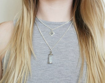 Bottle full of winter layered necklace