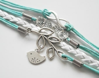 It's a hoot stackable bracelet