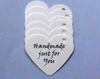100 heart tags handmade just for you tags seller supplies price tags gift tags wedding tags clothing hang tags product tags merchandise tags