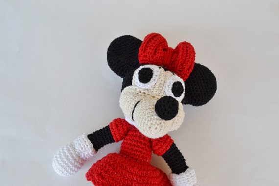 Crochet Minnie Mouse Doll : Minnie Mouse doll Handmade toy handmade amigurumi crochet