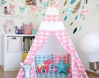 FREE SHIPPING teepee  Raspberry tulip  kids teepee play tent wigwam childrenu0027s teepee & Kids teepee play tent wigwam childrenu0027s teepee playtent