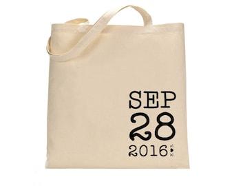 Wedding Welcome Tote Bag, Welcome tote bag, Wedding tote bag, Guest tote bag, Canvas tote bag, Wedding Canvas tote, Wedding Date tote