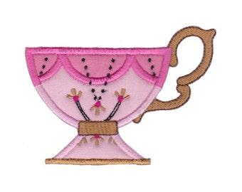 Cup Collection Applique Design 1 Machine Embroidery Design 4x4 5x7 6x10
