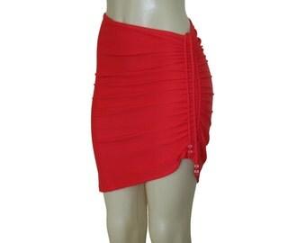 """Beach cover up """"Mid-Length"""", swim skirt, skirt cover ups, bikini cover up, adjustable skirt."""