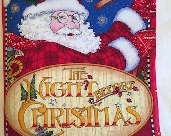 Night Before Christmas Cloth Book M.E.