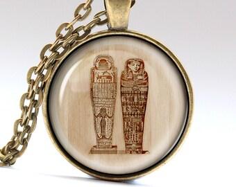 Egyptian Necklace, Pharaoh Jewelry, tutankhamun Charm, Ancient Pendant LG975