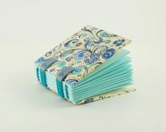 Mini grimoire, small handbag notebook, Binder Coptic, mini book, little Christmas gift
