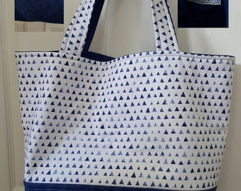 Classic Navy & White Tote Bag
