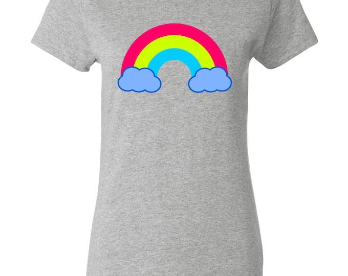 80s Rainbow Womens T-shirt