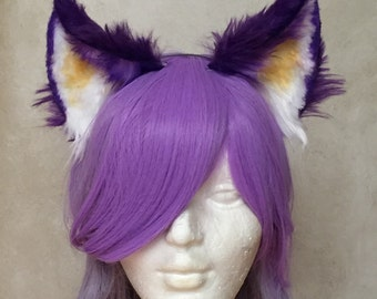 Purple Kitty Ears
