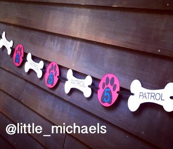 Personalized Paw Patrol Birthday Party Banner Paw Patrol
