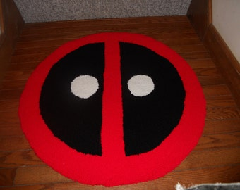 "Deadpool Rug- 30"" Handmade"