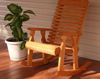 Amish Heavy Duty 600 Lb Classic Pressure Treated Rocking Chair