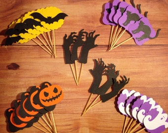 Halloween Cupcake Toppers (set of 26)