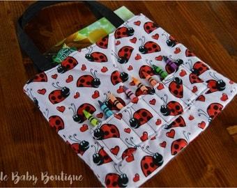 Ladybug, Coloring Book, Crayon Bag