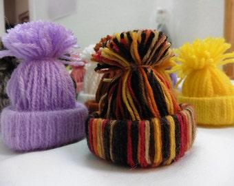 3 mini hats, wool, decorative, funny, original,