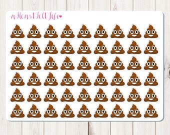 Mini Happy Poop Emoji Planner Stickers for use in your Erin Condren Planner, Happy Planner, etc.