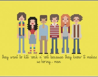 8-Bit Wonder - That 70s Show PDF Cross-Stitch Pattern