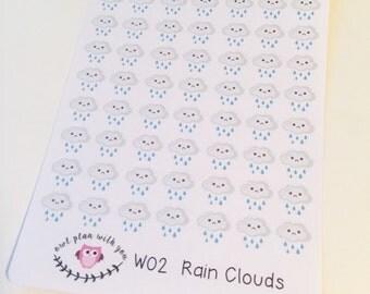 W02 || 63 Rain Weather Tracking Stickers