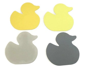 25 Assorted Yellow Ducky Tags, Die Cut Duck, Ducky Baby Shower, Duck Theme Party, Ducky Décor, Rubber Ducky, Ducky Theme, DIY