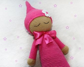 Sleeping doll First doll  Art doll Rag doll Doll handmade Gift for girl Cute doll Stuffed doll Crochet doll Soft toy Rag doll Girl doll