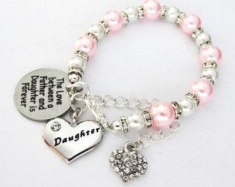Love between Father & Daughter bracelet Daughter bracelet,Daughter gift Daughter jewelry gift for daughter gift from Dad daddy daughter gift