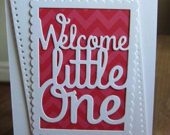 Handmade Baby Card/Baby Girl