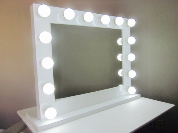 Grand Hollywood Lighted Vanity Mirror w/ Dimmer & by ImpactVanity