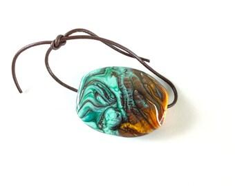 Sonoran Sunrise Lampwork Glass Bead