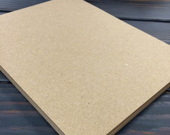 ULTRA THICK Kraft Brown Cardstock 130# (25 Sheets) - Please choose your size