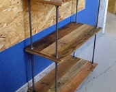 Gorgeous Custom Made Pallet Wood Bookshelf Bookcase in a Variety of Wood Types With Fully Adjustable Shelves