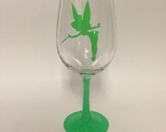 Tinkerbell wine glass or tumbler