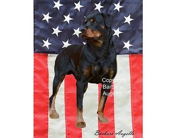 Rottweiler Flag, Rottweiler Patriotic Flag, Rottweiler Gift, Rottweiler Art, Rottweiler