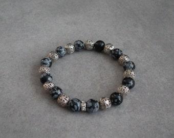Bracelet black stones