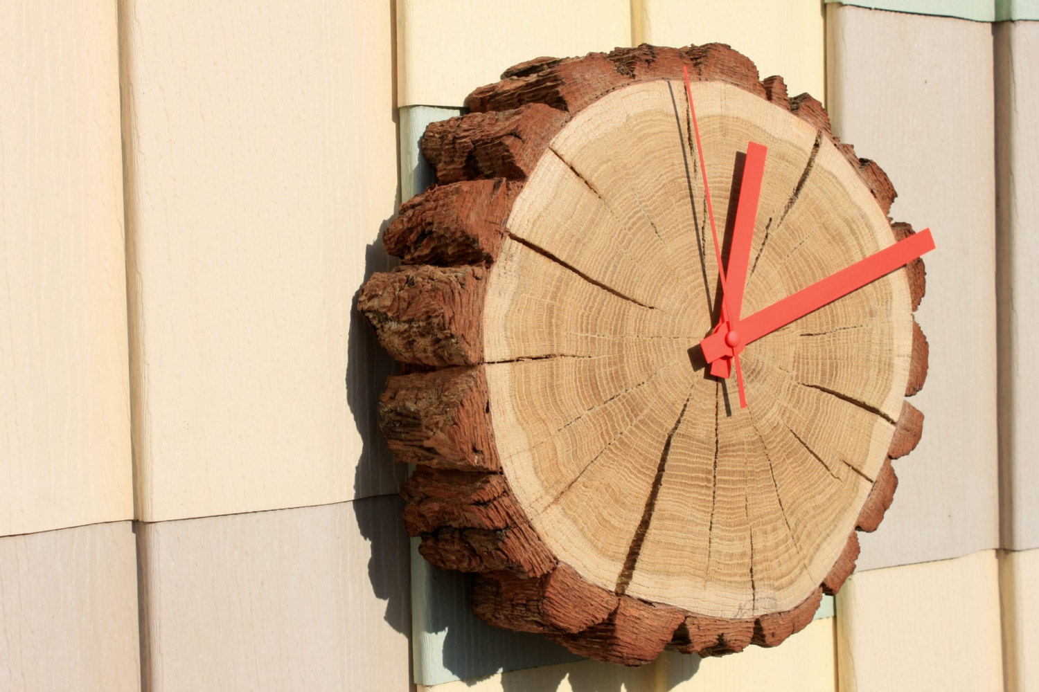 Tree Stump Wall Decor : Old tree stump oak natural wall clock home d?cor
