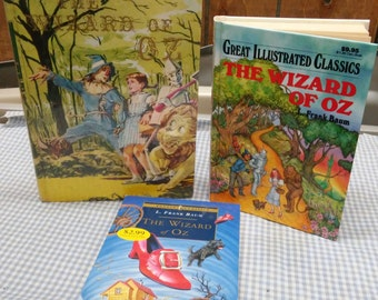 Wizard of Oz Classic Childrens Book set of 3