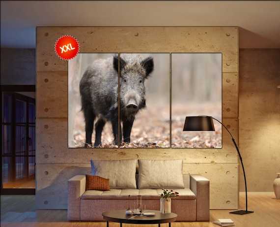 Boar canvas wall art art  large  canvas wall art print Boar Wall Home office decor interior Office Decor