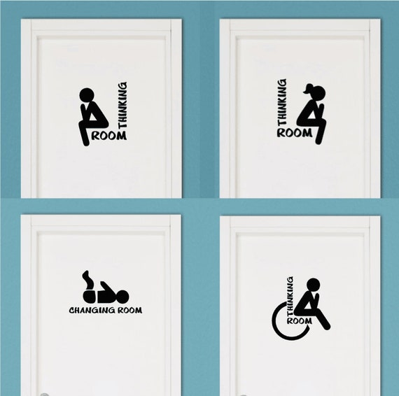 4 stickers thinking room toilet suitable for for Stickers per mattonelle bagno