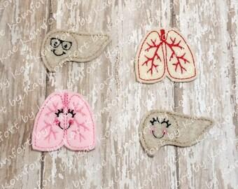 Liver or Lungs DMK Medical Felties- (set of 4) UN-CUT