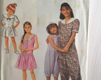Girl Romper Dress Size 7-14 Simplicity #7350