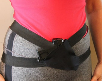 Hip holster, Safe and Secure jogging or walking gun holster, Conceal and carry holster, comfortable secure holster