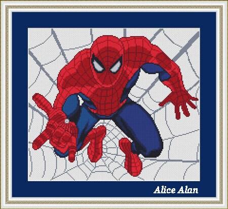 Cross stitch pattern spider man superheroes marvel by - Marvel spiderman comics pdf ...