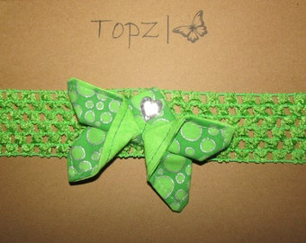 Baby Butterfly Headband - Lime Green